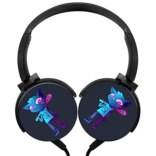 Pimalico Mae Night in The Woods Wired Headphones Stereo Subwoofer Headphones Lightweight Portable Headphones