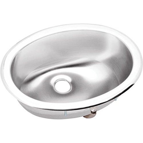 Elkay LLVR1310 Lustertone Oval without Faucet Ledge Self Rimming Bathroom Sink