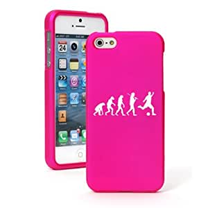 Apple iPhone 5c CH80 Hot Pink Rubber Hard Case Snap on 2 Piece Evolution Soccer