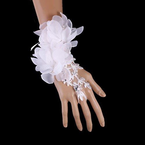 ストレージ小石キャンペーンLovoski 結婚式 レース フラワー ラインストーン イブニングパーティー 女性 ブライダル グローブ