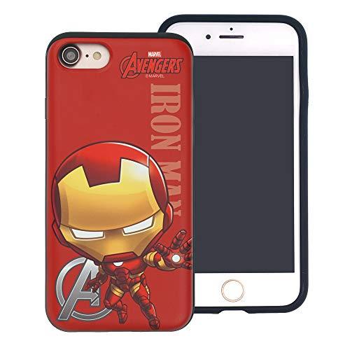 iPhone 6S Plus/iPhone 6 Plus Case Marvel Avengers Layered Hybrid [TPU + PC] Shock Absorption Bumper Cover for [ iPhone 6S Plus/iPhone 6 Plus ] Case - Mini Iron Man (I Phone 6 Case Iron Man)