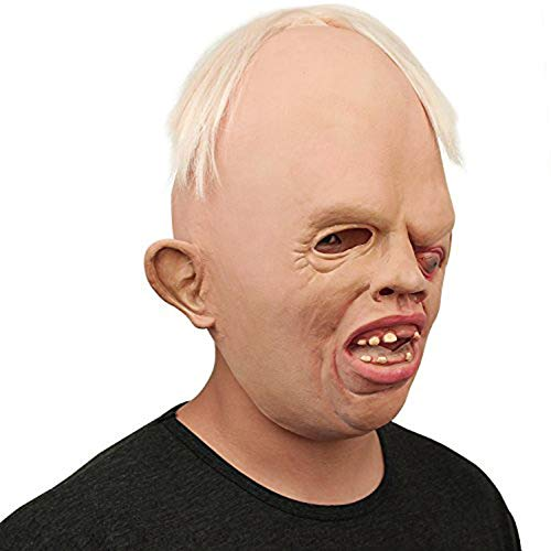 Masks Tragedies Maske Hot! Novelty Latex Rubber Creepy Scary Ugly Head the Goonies Sloth Scary Mask Halloween Party Costume Latex Cyclops Mask