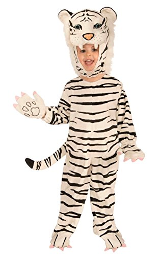 Boys Tiger Costumes (Forum Novelties Plush White Tiger Child Costume, Small)