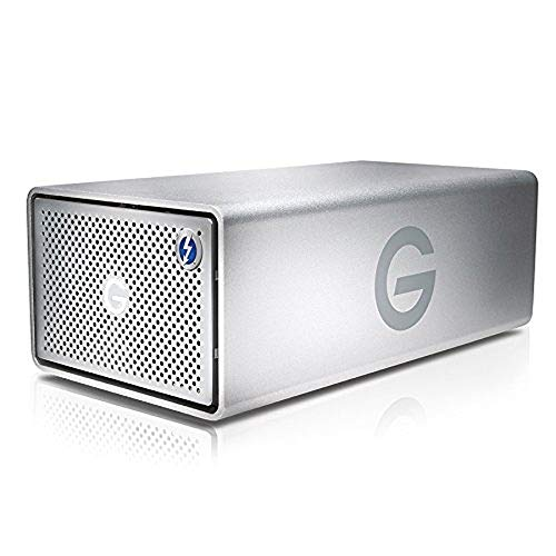 G-Technology 12TB G-RAID with Thunderbolt 2 and USB 3.0, Removable Dual Drive Storage System, Silver - 0G04093