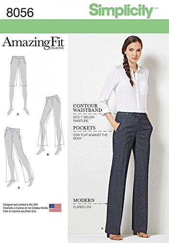 Simplicity Ladies Sewing Pattern 8056 Amazing Fit Shorts, Jeans ...