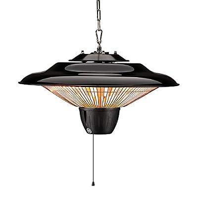 SURJUNY Electric Hanging Heater, Ceiling Patio Heater, Indoor/Outdoor Halogen Heater, Waterproof IP34 Rated, S01