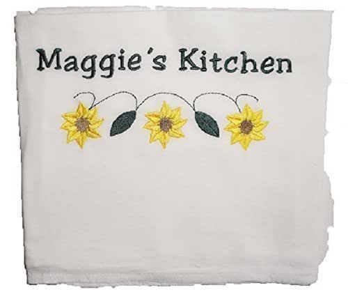 Amazon.com: Custom Embroidered And Personalized Flour Sack
