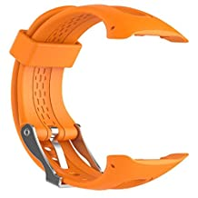 Garmin Forerunner 10 Watchbands, ABC® Wristband Watch band Wrist strap Silicagel Soft Band Strap Replacement (Orange)