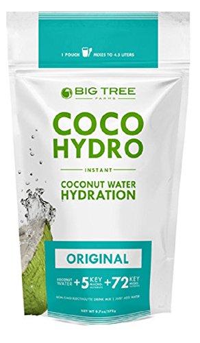 Big Tree Farms Coco Hydro Instant Coconut Water Mix, Vegan, Non-GMO, Gluten Free, Original Flavor, 9.7 Ounce Pouch