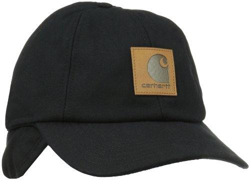 Carhartt Men's Workflex Ear Flap Cap,Black,Large/X-Large