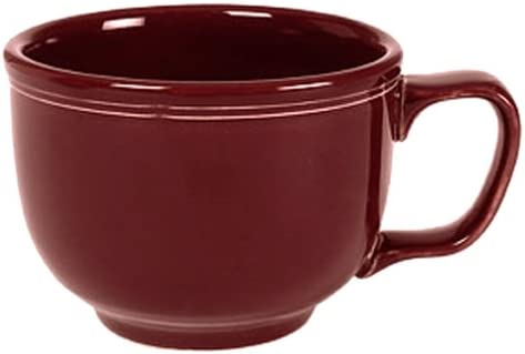 Contempary  Fiesta ware Coffee//Tea Cup Saucer Set SCARLET Red