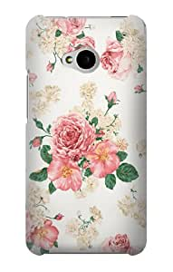 S1859 Rose Pattern Case Cover For HTC ONE