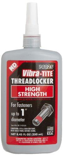 Vibra-TITE 140 Permanent High Strength Anaerobic Threadlocker, 250 ml Bottle, Red