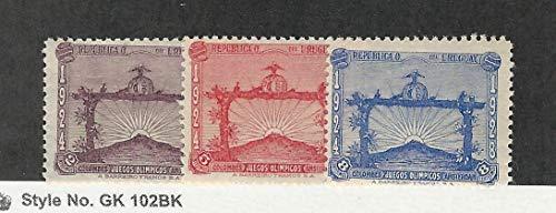 Uruguay, Postage Stamp, 388-390 Mint LH, 1928, - Mint 388