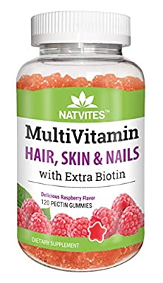 Natvites Multivitamin & Hair Skin and Nails with Extra Biotin Pectin Gummies for Adults 120 Count