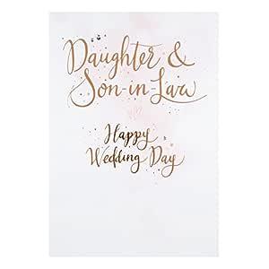Tarjeta de boda Hallmark para hija y yerno con el texto ...