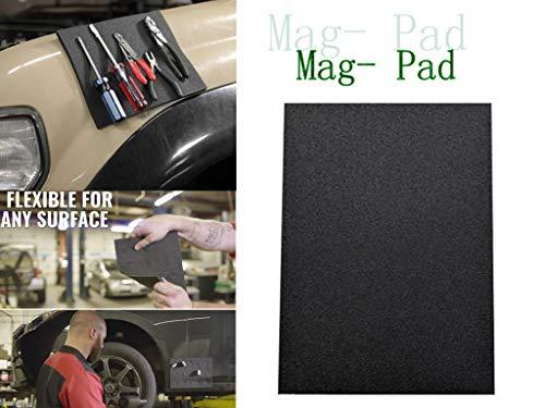 "(Cywulin Mag-Pad Tools, Flexible Magnetic Repair Tool Pad Holder Parts Tray Holding Tools Screws Nuts Nails Bolts Sockets, Magic Car Mat Anti-Slip Non-Slip Size 11"" x 8"" (11"" x 8"", Black))"