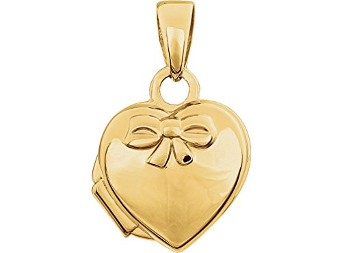14k Yellow Gold Bow and Heart Locket by The Men's Jewelry Store (for HER)