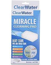 Clearwater Wonderder spons gum pad geschikt voor Lay-Z-Spa zwembadens/spa-/boten/keuken en meubels, wit, 3-delig