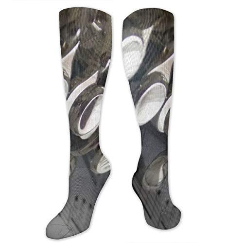 ZHENHUN Compression Socks Flute Music Musical Notes Soccer Sports Knee High Tube Socks for Women and Men]()