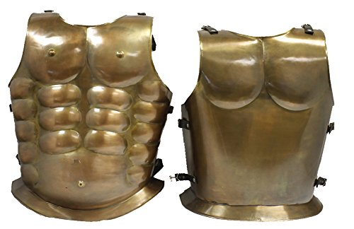 RedSkyTrader Mens Steampunk Armor Breastplate One Size Fits Most Bronze