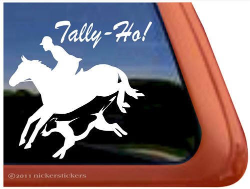 tally-ho-foxhunting-jumping-horse-and-fox-hound-vinyl-window-decal