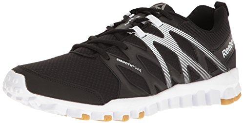 Train Men's Gum Rubber Reebok Running 4 Black 0 Pewter Reebok Shoe Realflex White qEFgZqxR