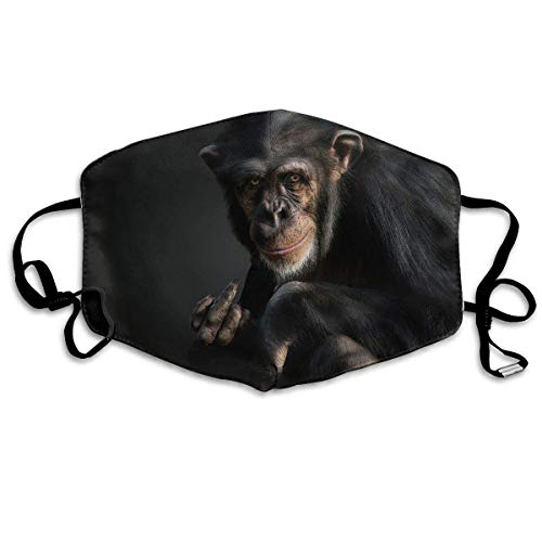 shengshilande Dust Mask Black Chimpanzee Outdoor Mouth Mask Anti Dust Mouth Mask for Man Woman]()