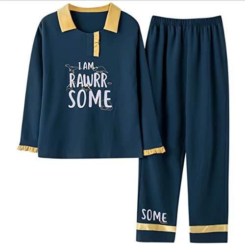 Da Set Abbigliamento M Pigiama Donna Lunghi Casa Donna Casual Bavero Per Cotone Set La Da Arredamento Pigiama Loveni Pantaloni T58UqU