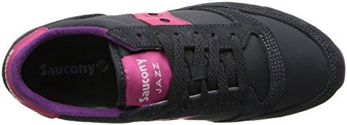 Mujer Jazz Cross de Charcoal para Original Saucony Gris Pink Zapatillas YadRKq