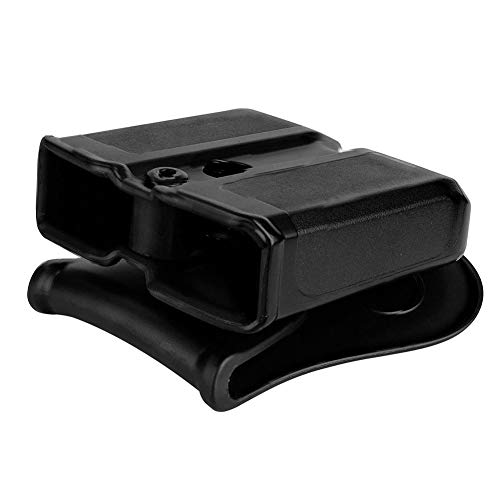Double Magazine Holster, 9mm .40 Double Stack Mag.Universal Magazines Hunting Belt Case Holster Pouch Cartridge Clip Holder Gun with Paddle Pouch.
