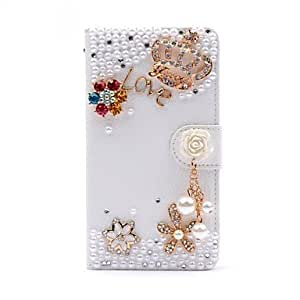 MOM Wallet Style Diamond Gold Crown Flip Litchi PU Leather Case with Stand for Samsung Galaxy S4 SIV Mini i9190