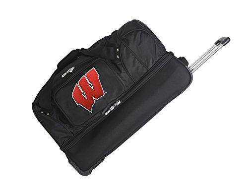 NCAA Wisconsin Badgers Rolling Drop-Bottom Duffel by Denco