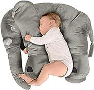 BEEWIES Premium Almohada Para Bebe de Elefante Muy Suave, Blando y Flexible de 65cm Para Usarse Como Juguetes