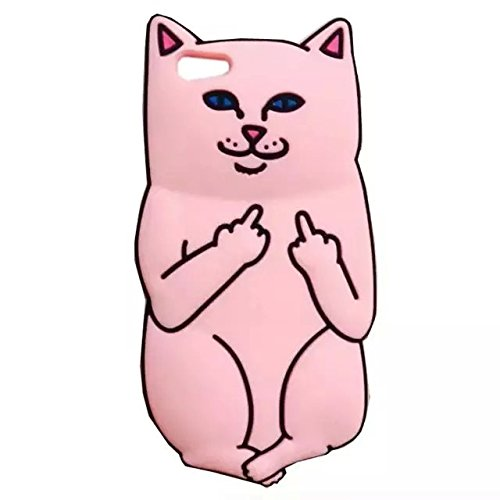 iPhone 6 Plus Case, LliVEER Cute 3D Cartoon Iris Pocket Base Cat Silicone Soft Back Case Cover for Apple iPhone 6 Plus / 6S Plus 5.5inch Pink