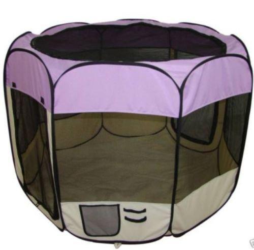 Generic YCUS150715-075 8&09891  House 8ppy Playpen Tent Puppy Playpen BN Exercise Pen Medium Purple Pet Dog Kennel House 8 BN Medium P