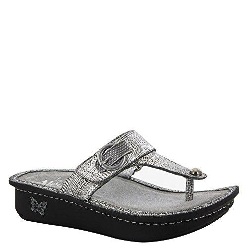 Alegria Womens Carina Wedge Thong Sandal Chain Mail Size 35 EU (5-5.5 M US Women)