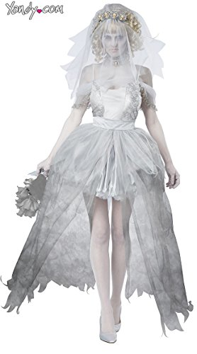 California Costumes Women's Ghostly Bride Adult, Grey, ()