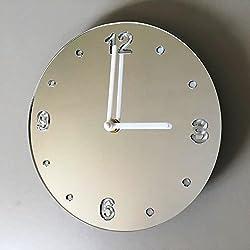 Round Clock - Mirrored - Large