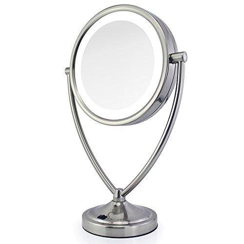 Cordless Led Lighted Pivoting Vanity Mirror