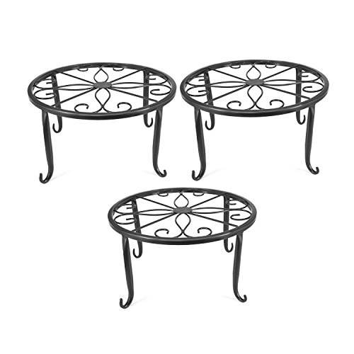 (Indoor Metal Flower Pot Plant Stand Set of 3 Small Iron Potted Plant)
