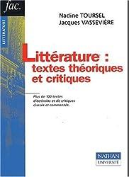Littérature : textes théoriques et critiques