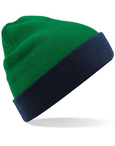 Beechfield Unisex Reversible Contrast Winter Beanie Hat