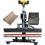 "VViViD 10"" x 12"" Flat Digital Garment Heat Press Including 16"" x 72"" Teflon Non-Stick Sheet"