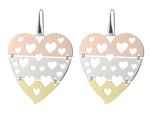 Sterling Silver Tri Color Gold Plated Earrings 2