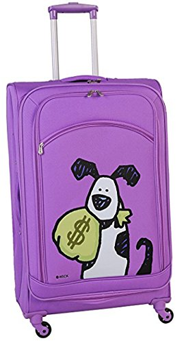 ed-heck-money-doggie-spinner-luggage-25-inch-purple-one-size