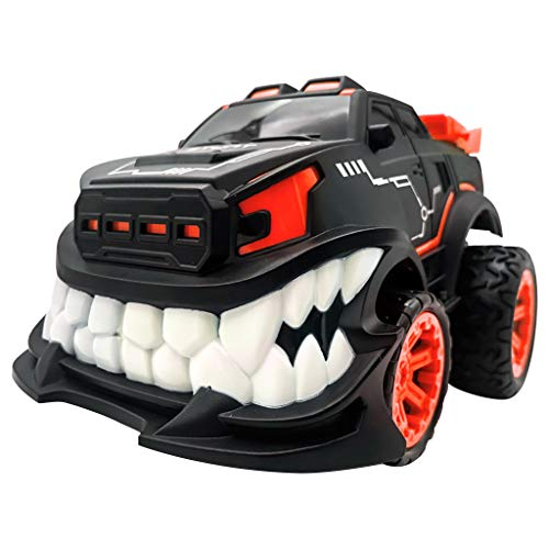 Fine Upright/Inverted Walking Stunt Remote Control Car,Remote Control Car for Boys, 2.4G Stunt 360° Upright Rotation Devil Big Teeth Off-Road Electric Remote Control Car (Red) (Let The Resistance Of An Electrical Component)