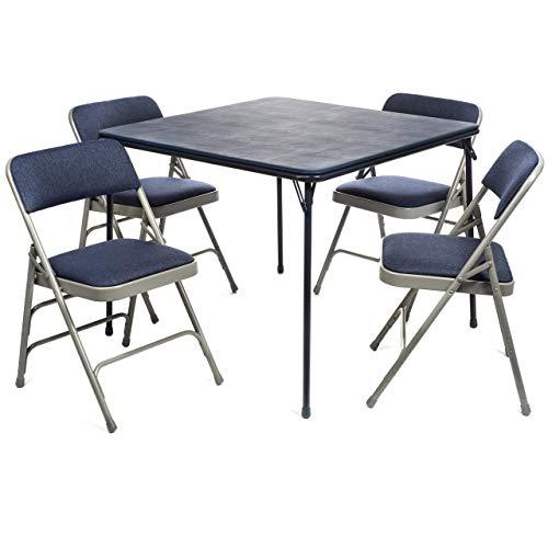 Amazon.com: Juego de mesa y sillas acolchadas de tela XL ...