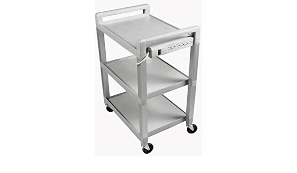 White Medical Cart with Wheels ERRU Rolling Equipment Trolley Heavy-Duty Utility Cart for Beauty Salon Hair SPA