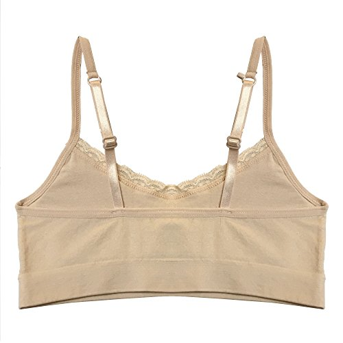 94b146cc96 Popular Girl s Seamless Cami Bra with Adjustable and Convertible Straps  -Value Pack